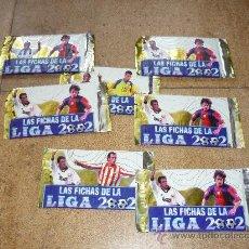 Trading Cards: 7 SOBRES CARTAS LIGA 2001 2002 LAS FICHAS DE LA LIGA NUEVAS SIN ABRIR. Lote 33116987