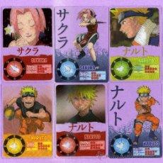 Trading Cards: 10 LAMINCARDS DE NARUTO DEL 2002 DE PANNINI MIRATELAS ESTAN A ESTRENA. Lote 135228702