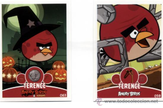 ANGRY BIRDS TRADING CARD E-MAX - TERENCE #059 #063