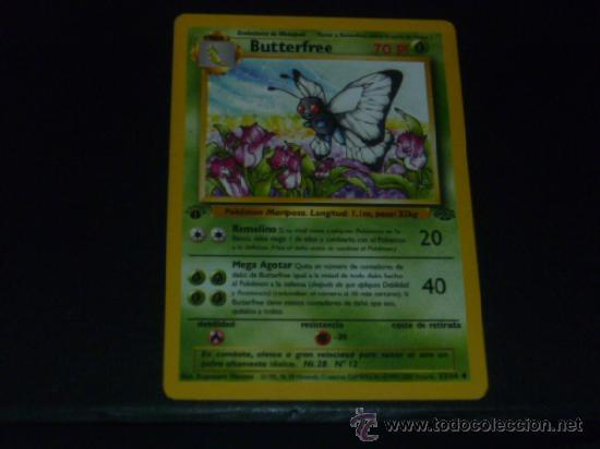 Pokemon Jungle Uncommon Card #33//64 Butterfree