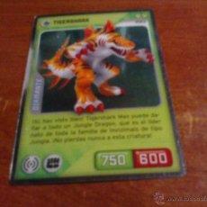 Trading Cards: CROMO INVIZIMALS DESAFIOS OCULTOS DIAMANTE OPACO NO TRANSPARENTE 195 TIGERSHARK . Lote 40702319