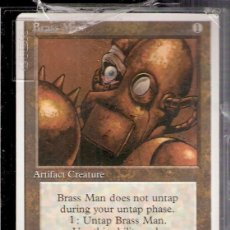 Trading Cards: BRASS MAN. ARTIFACT CREATURE. MAGIC. THE GATHERING. DECKMASTER.. Lote 41058267