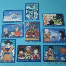 Trading Cards: NUEVE CARTAS DRAGON BALL Z. Nº 43, 46, 50, 54, 55, 56, 58, 62 Y 65. Lote 41515503