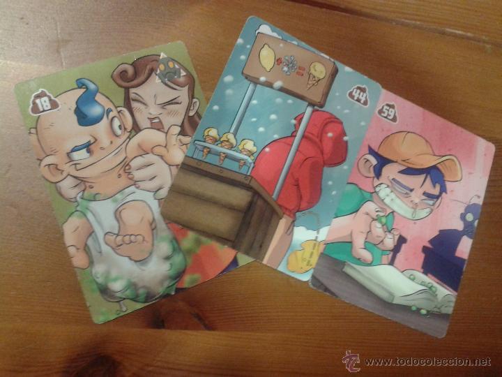 3 CARTAS DIFERENTES PESTE CARDS, DE EXIT TOYS. MUY RARAS. Nº 18, 44 Y 59 (Coleccionismo - Cromos y Álbumes - Trading Cards)