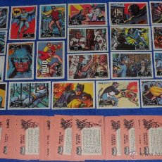 Trading Cards: BATMAN BLACK BAT - ORANGE BACK - TOPPS (1966) ¡COLECCIÓN COMPLETA!. Lote 46552118