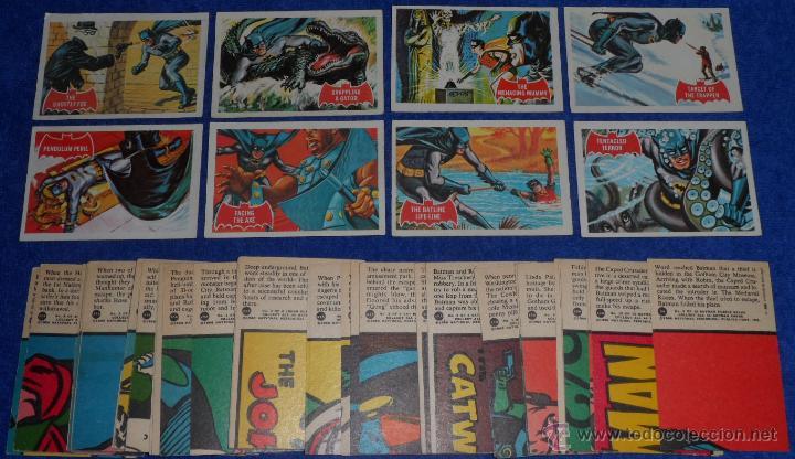 BATMAN RED BAT - PUZZLE BACK - TOPPS (1966) ¡COLECCIÓN COMPLETA! (Coleccionismo - Cromos y Álbumes - Trading Cards)