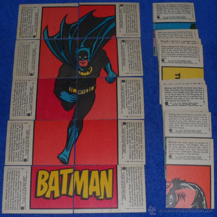 Trading Cards: Batman Red Bat - Puzzle Back - Topps (1966) ¡Colección completa! - Foto 2 - 46622042