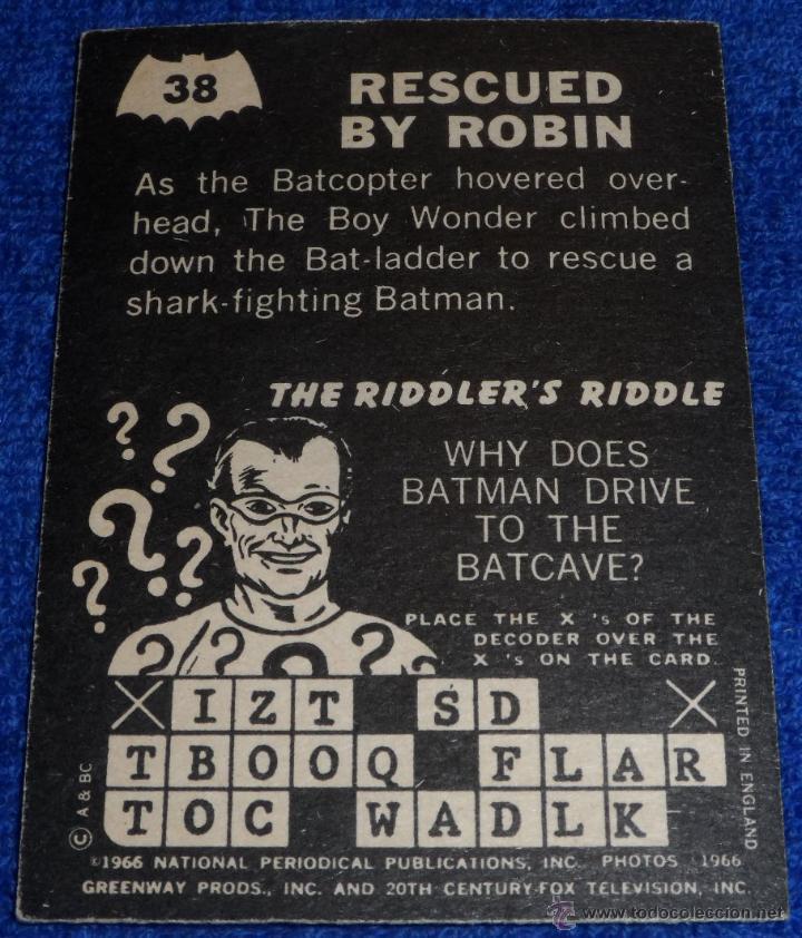 Trading Cards: Batman - Riddler Back - A&BC (1966) ¡Colección casi completa! - Foto 2 - 46622952