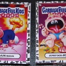 Trading Cards: GARBAGE PAIL KIDS FLASHBACK SERIES 2 SET COMPLETO - BORDE BLANCO RARO - 80 CARTAS - PANDILLA BASURA. Lote 48663705