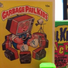 Trading Cards: GARBAGE PAIL KIDS - LA PANDILLA BASURA - MINIKINS - TEE-VEE STEVIE (VERDE). Lote 54951869