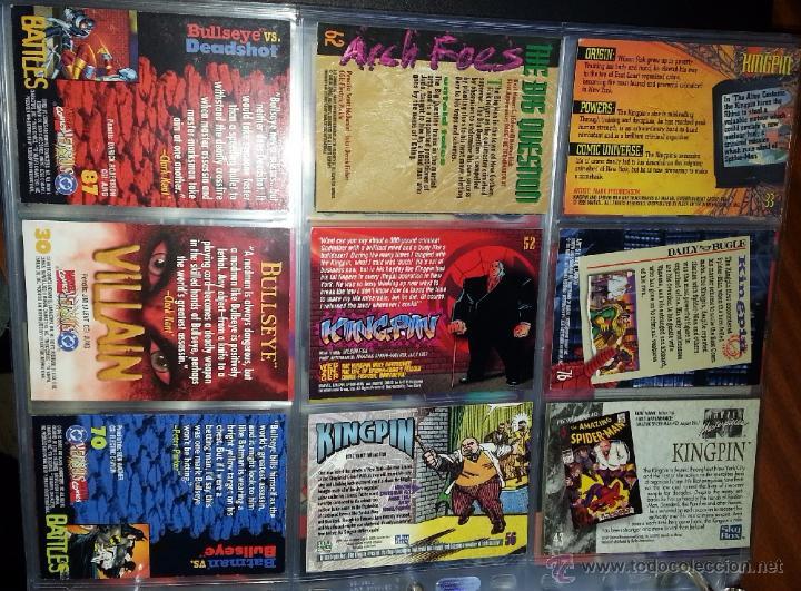 TRADING CARD KINGPIN Y BULLSEYE - LOTE DE 9 TRADINGS CARDS (Coleccionismo - Cromos y Álbumes - Trading Cards)