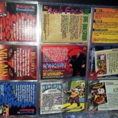 Trading Cards: TRADING CARD KINGPIN Y BULLSEYE - LOTE DE 9 TRADINGS CARDS. Lote 49604496