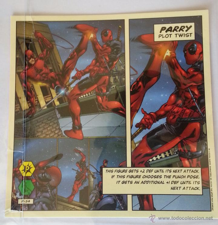 TRADING CARD MARVEL LEGENDS SHOWDOWN DAREDEVIL DEADPOOL MASACRE PUNISHER (4 TARJETAS) (Coleccionismo - Cromos y Álbumes - Trading Cards)