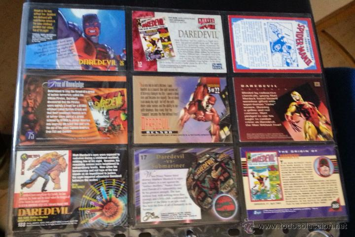 Trading Cards: TRADING CARD DEDICADO A DAREDEVIL - LOTE DE 9 TRADINGS CARDS - Foto 2 - 49638044