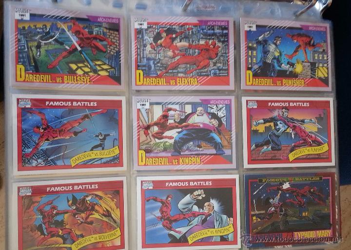 TRADING CARD DEDICADO A DAREDEVIL - LOTE DE 9 TRADINGS CARDS (Coleccionismo - Cromos y Álbumes - Trading Cards)