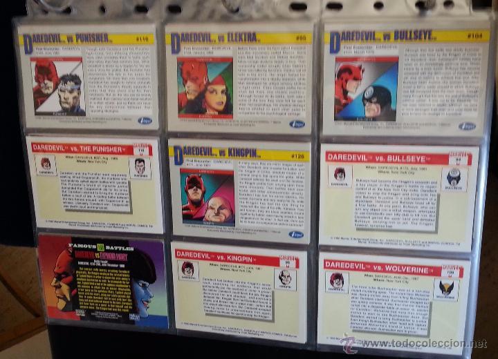 Trading Cards: TRADING CARD DEDICADO A DAREDEVIL - LOTE DE 9 TRADINGS CARDS - Foto 2 - 49638316
