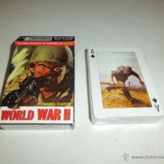 Trading Cards: WORLD WAR II PLAYING CARDS DE PIATNIK ED. COMMEMORATIVA CARTAS PRECINTADAS A ESTRENAR. Lote 49961362