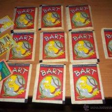 Trading Cards: 10 SOBRES LLENOS BART FIGURITAS (CARDS) LOS SIMPSOM EDICION CROMY. Lote 52212101