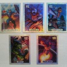 Trading Cards: TRADING CARDS MARVEL MASTERPIECES 1994 - COLECCION COMPLETA DE ESPECIALES HOLOFOIL (10 UD.). Lote 230823685