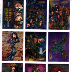 Trading Cards: ALL CHROMIUM CYBER FORCE PREMIER EDITION TRADING CARDS SERIES COMPLETA. 72 CARDS. Lote 56843031