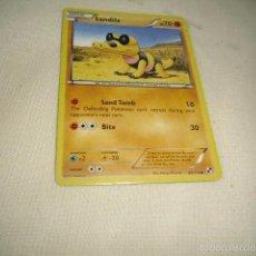 Trading Cards: FICHA CARD POKEMON TARJETA SANDILE . Lote 56848024