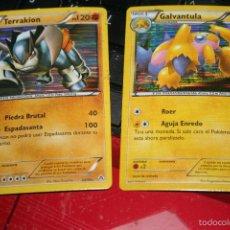Trading Cards: 2 CARTAS DE POKEMON NEGRO Y BLANCO FUERZAS EMERGENTES TERRAKION GALVANTULA. Lote 57443641