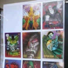 Trading Cards: TRADING CARD VILLANOS SPIDER-MAN Y DAREDEVIL - LOTE DE 8 TRADINGS CARDS. Lote 49604437