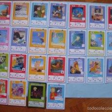 Trading Cards: 23 CARTAS DE LOS CLÁSICOS DE DISNEY. COLECCIÓN HIPERCOR. Lote 57958897