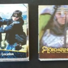 Trading Cards: LORD OF THE RINGS THE TWO TOWERS - TOPPS 2002 - LOTE DE 34 CARDS DIFERENTES + 11 REPETIDAS . Lote 58226253