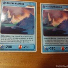 Trading Cards: 2 CROMOS Nº 438 -INVIZIMALS DESAFIOS OCULTOS - ICEBERG MILENARIO - ERROR. Lote 58653105