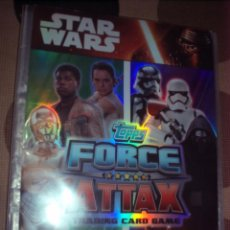 Trading Cards: ALBUM STAR WARS FORCE ATTAX CON 129 TRADING CARDS. Lote 60791675