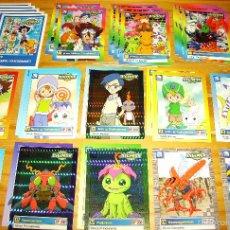 Trading Cards: LOTE DE 40 CARDS O TARJETAS RÍGIDAS DE DIGIMON, SERIE ORIGINAL, PRIMERA TEMPORADA. Lote 61086115