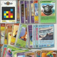 Trading Cards: LOTE DE 162 CROMOS INVIZIMALS TODOS DISTINTOS + 34 REPETIDOS. Lote 61933584