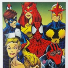 Trading Cards: THE AMAZING SPIDER-MAN FLEER 1994 CROMO 95 SPIDERMAN & NEW WARRIORS TRADING CARD. Lote 68843077