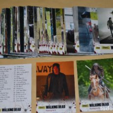 THE WALKING DEAD : TRADING CARDS TEMPORADA 4 PARTE 1, COMPLETA (72 CARDS)