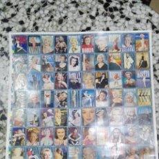 Trading Cards: LAMINA DE CARTON CON LA COLECCION DE MARILYN MONROE ,SIN CORTAR. Lote 72231299