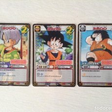 Trading Cards: DRAGON BALL JUEGO DE CARTAS COLECCIONABLES JCC LOTE 3 TRUNKS GOTEN YAJIROBE. Lote 73490443