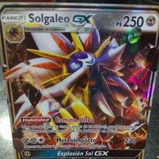 Trading Cards: CARTA CARTAS POKEMON SOLGALEO GX SOL Y LUNA EN ESPAÑOL AUTENTICAS NUEVA COLECCION. Lote 187545508