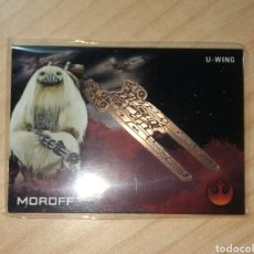 Trading Cards: STAR WARS ROGUE ONE SERIES 1 MOROFF MEDALLION CARD TOPPS. Lote 76563105