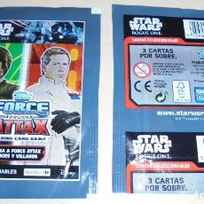 Trading Cards: LOTE DE DOS SOBRES CROMOS STAR WARS ROGUE ONE. TOPPS FORCE ATTAX TRADING CARD GAME. NUEVOS. . Lote 81113496