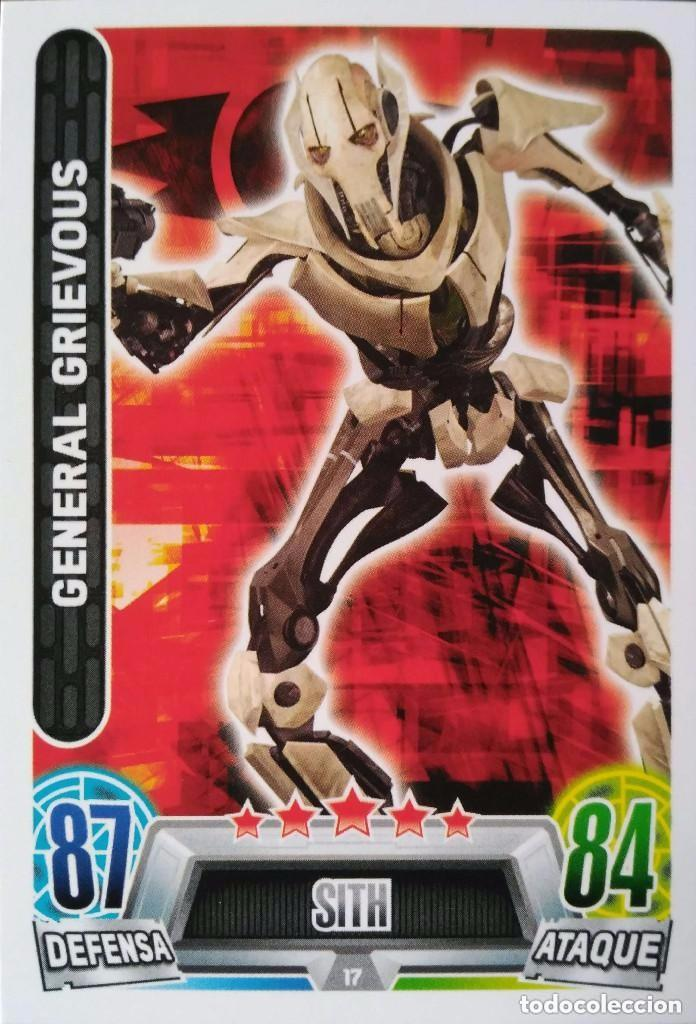 17 GENERAL GRIEVOUS. SITH. STAR WARS. CARREFOUR (Coleccionismo - Cromos y Álbumes - Trading Cards)