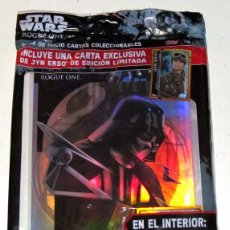 Trading Cards: ARCHIVADOR CARDS STAR WARS ROGUE ONE. PRECINTADO CON LIMITADA JYN ERSO. Lote 101298591