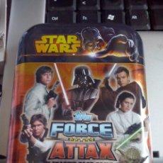Trading Cards: TOPPS - STAR WARS FORCE ATTAX SERIE 3 MINI LATA METAL ( VACIA ). NUEVA. Lote 83555172