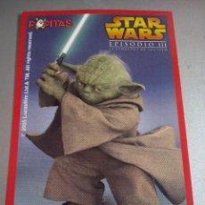 Trading Cards: STAR WARS EPISODIO III - CROMO YODA POPITAS . NUEVO. Lote 83555380