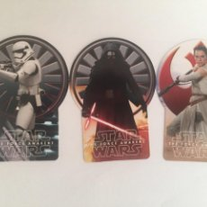 Trading Cards: LOTE 3 CARTAS CON FORMA EDICION LIMITADA TOPPS STAR WARS VIAJE AL DESPERTAR DE LA FUERZA. Lote 119245172