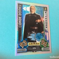 Trading Cards: STAR WARS FORCE ATTAX MOVIES 2017-Nº 260 - CONDE DOOKU - -BRILLANTES ARCO IRIS. Lote 84821516