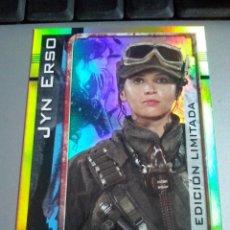 Trading Cards: TOPPS - STAR WARS ROGUE ONE CARD EDICION LIMITADA JYN ERSO .NUEVA DE SOBRE. Lote 85140496
