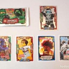 Trading Cards: LEGO NINJAGO TRADING CARDS GAME. 5 CARTAS. INCLUYE CARTA ESPECIAL DE ZANE.. Lote 86415032