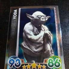 Trading Cards: TOPPS TRADING CARDS Nº 166 YODA STAR WARS CARTA ESPEJO FORCE ATTAX 2015 GAME. Lote 93198700