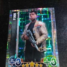 Trading Cards: TOPPS TRADING CARDS Nº 205 FINN STAR WARS CARTA HOLOGRAFICA FORCE ATTAX 2015 GAME. Lote 89239560